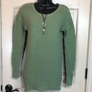 Kaisely Cotton Zippered Back Sweater